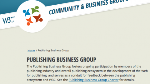 The W3C Publishing Business Group is now live