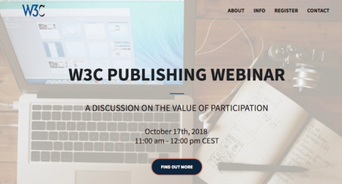 Webinar: why you should become full W3C member in 2019