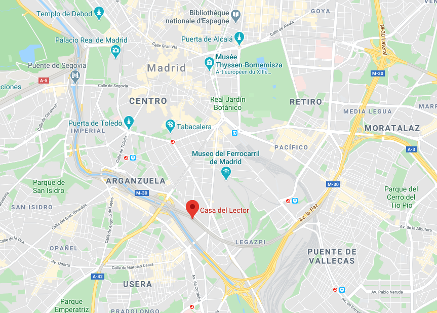 Map of the location of Casa del Lector Madrid